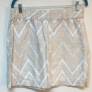 Banana republic linen/cotton blend lined skirt EUC